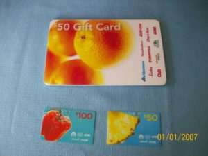 Donation Supermarket Cards